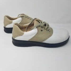 Finn Comfort Augusta golf shoes 9.5 white beige